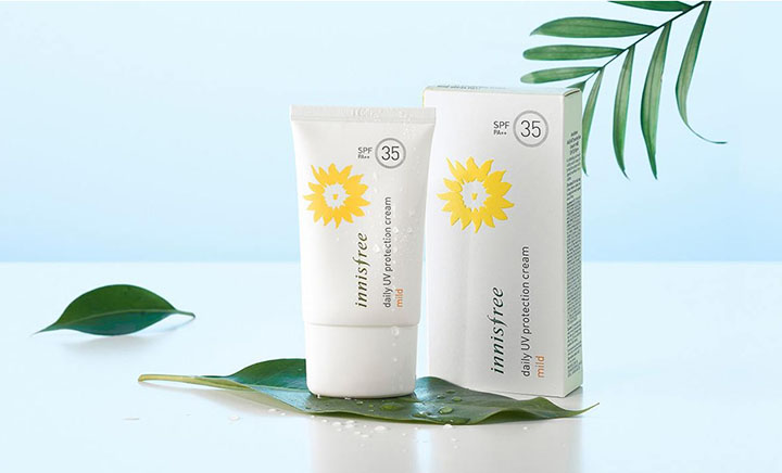review kem chống nắng Innisfree Daily UV Protection Cream Mild SPF35 PA++