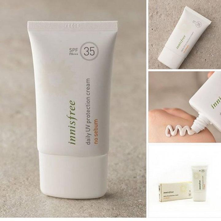 review kem chống nắng Innisfree Daily UV Protection Cream No Sebum SPF35 PA+++