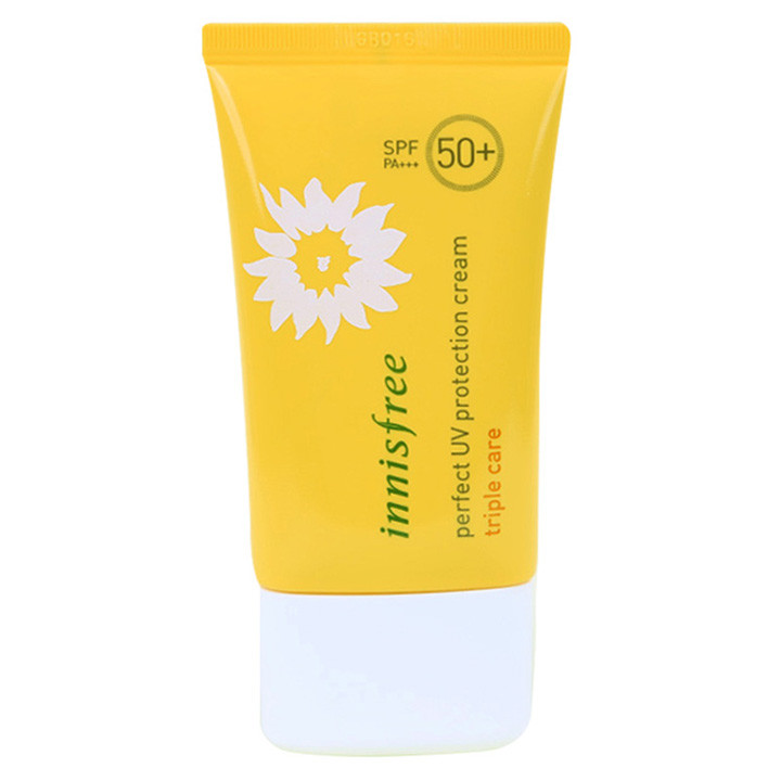 review kem chống nắng Innisfree Perfect UV Protection Cream Triple Care SPF 50+ PA+++