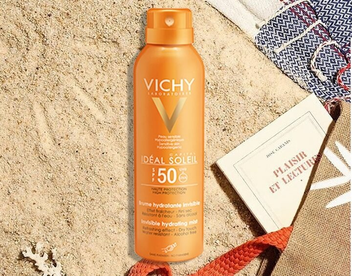 Review xịt chống nắng Vichy Ideal Soleil Invisible Hydrating Mist