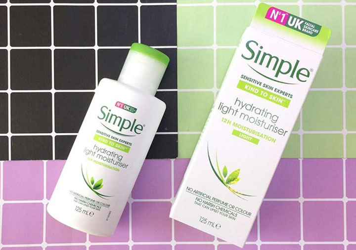 Review kem dưỡng ẩm Simple Kind To Skin